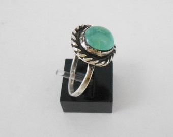 Ring Silver With Turquoise Stone