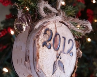 Personalized Christmas Tree Stump Ornament