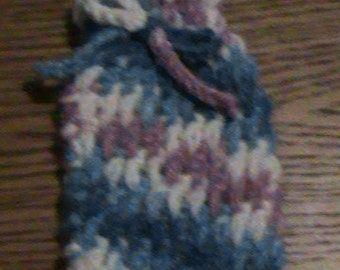 Purple, Blue and White Soap Saver Sack / Pouch