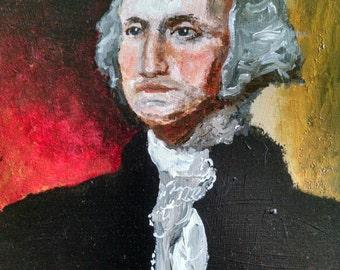 Original painting detail of Gilbert Stuart portrait George Washington