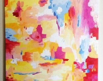 Original Acrylic Abstract Painting on Canvas, Modern Art, Abstract Art, Brights, Wall Art