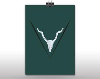 Metal Deer Skull Etsy