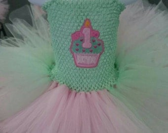 Baby's first birthday tutu dress