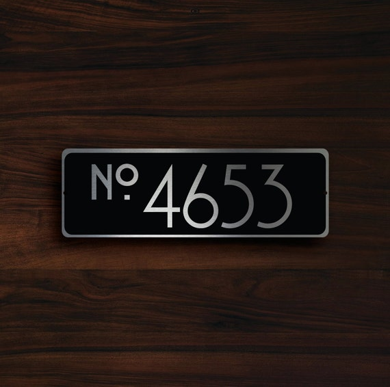 Custom house number sign outdoor house number plaque custom - Decorative house number signs ...