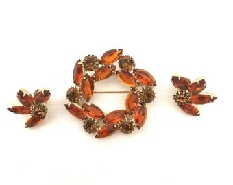 Vintage Weiss Brooch/Pin and Earrings