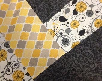 Yellow Herringbone Quilt
