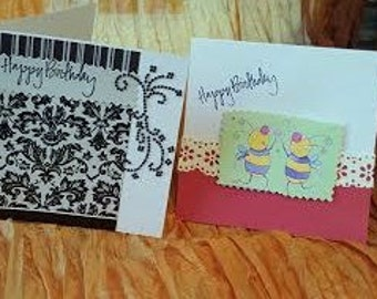 A set of  two birthday cards