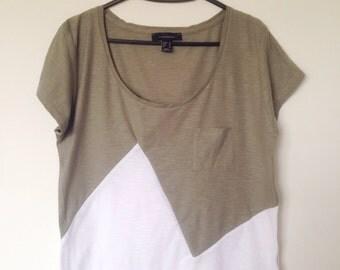 Handmade Colour Block t-shirt