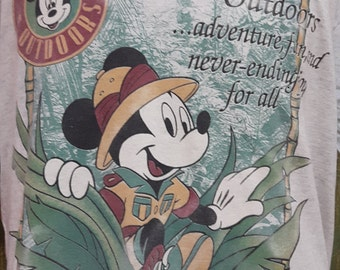 Vintage Mickey Outdoor 90s Disney California Full Print tshirt (B033)