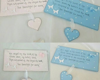 Personalised baby remembrance plaque- Bereavement, remembrance, babyloss