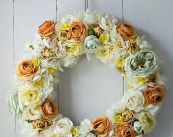VINTAGE FABRIC WREATH