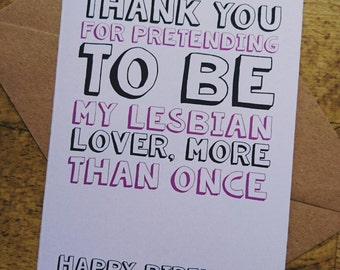 Funny birthday card best friend A6 best friend adult humour joke