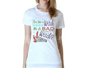 Halloween, Good Witch, Bad Witch, shirt for her