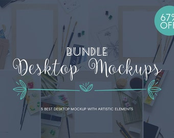 Bundle 67% OFF / Desktop Mockups / Stock Photography / Product Mockup / High Res File