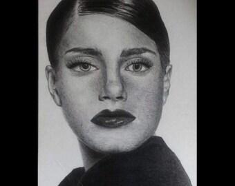 Graphite pencil portrait