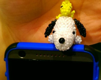 Snoopy Cell phone plug