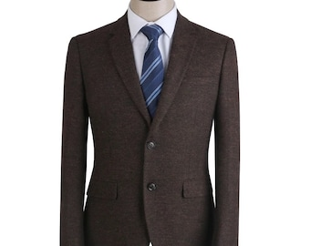 Men's Brown Custom Fitted Suit