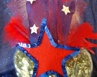 July 4th Independence Day Fascinator Headband
