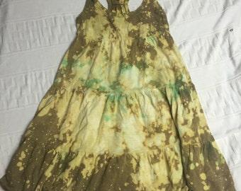 Tie Dye Bleached Repurposed Altered Dress Medium