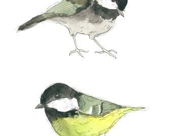Line of Birds Print