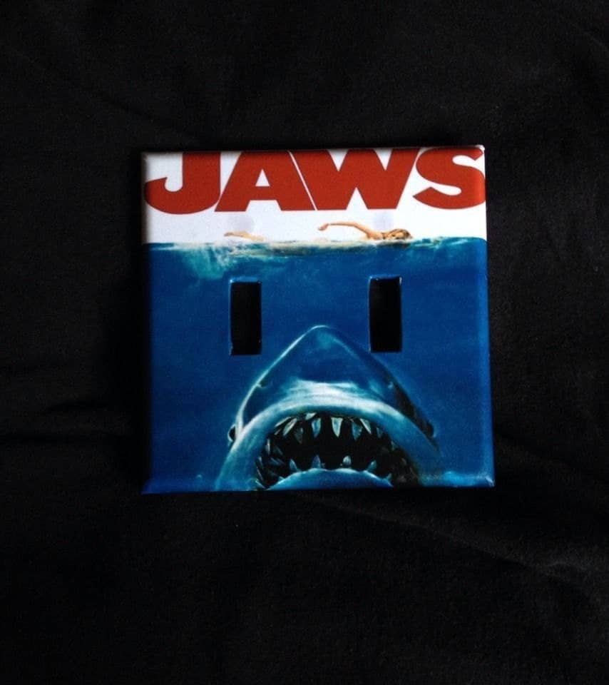 JAWS Movie Poster Light Switch Cover Plate Home Room By ...