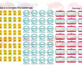 Hamster Variety Planner Stickers