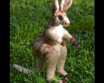 Felted Kangaroo Kangaroo felted Aussie Kangaroo needle felted Australian Kangaroo felted animal