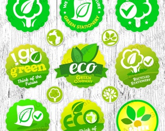 13 Eco product clipart, organic labels, eco friendly, fresh organic clip, farm fresh labels, 100% natural, go green labels, reduce recycle