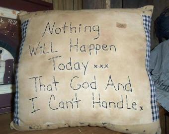 Primitive Stitchery Pillow