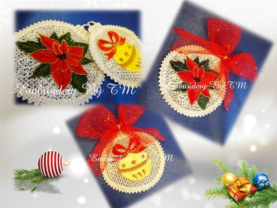Christmas ornaments decorations 4x4 hoop for Decoration 4x4