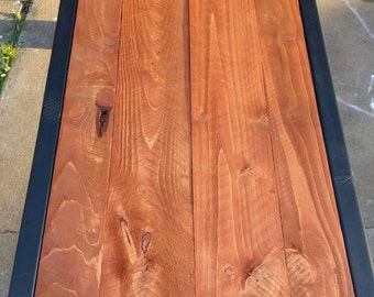 Rustic Contemporary coffee table with Cedar inlay. Very nice and very sturdy.