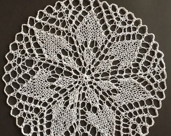 White lace doily- handmade