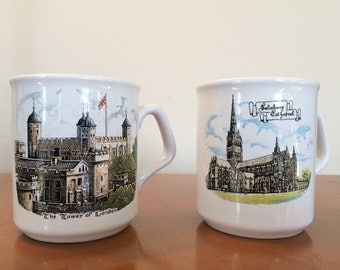 Vintage English Coffee Mugs