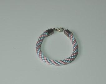 Knitted cord bracelet