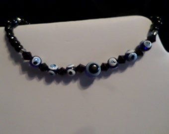 Hematite Magnetic Evil Eye Bead Protection Good Lucky Luck Bracelet Jewelry ( 3 different ones to choose from)