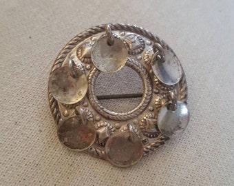 Vintage Norway Norwegian Scandinavian 925 Sterling Silver Solje Filigree Wedding Brooch Pin Jewelry