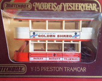 10% New Year discount Set of 3 Models of Yesteryear Y15 - Preston Tramcar