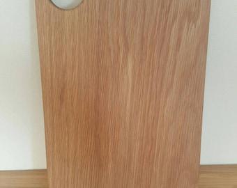 Handmade white oak cutting board