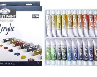 ROYAL LANGNICKEL Acrylic Paint Tubes Art Supplies 24pc Set Painting