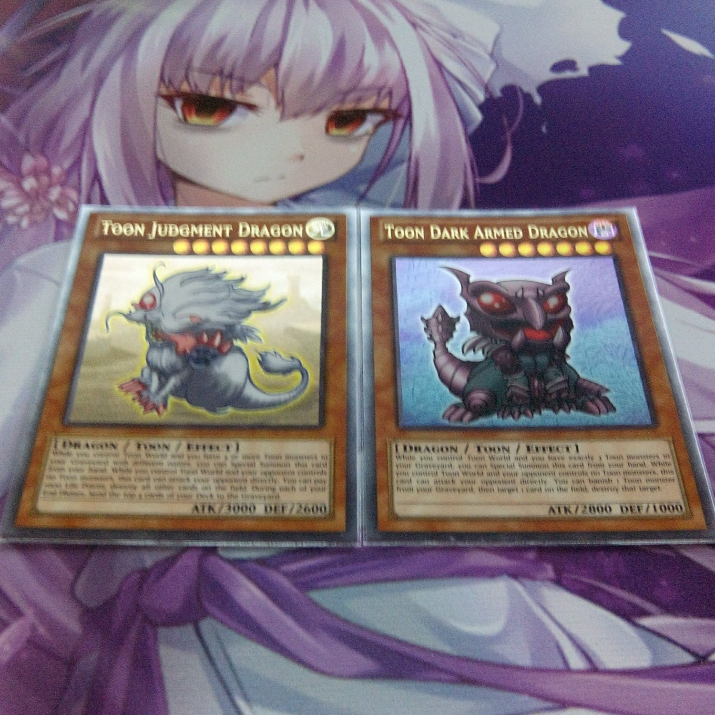 toon judgment dragon u0026 dark armed dragon ultra rare