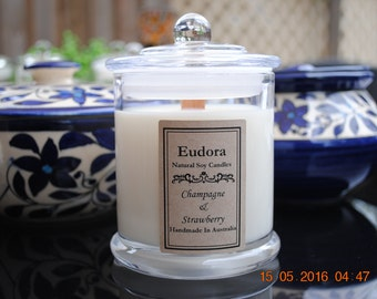 Eudora scented soy wood wick candles