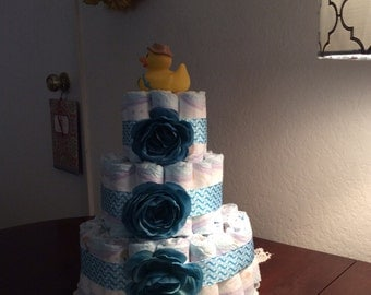 Serendipity diaper cakes make a wonderful gift to welcome in the new addition