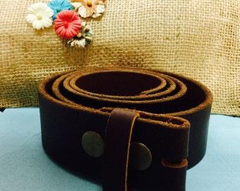 Brown Leather Belt Blank