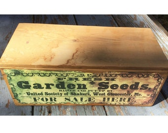 United Society of Shakers West Gloucester, Me Seed box