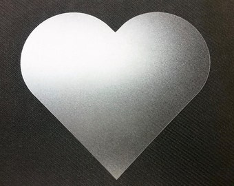 6'' Translucent Heart! Stencil or Decoration!