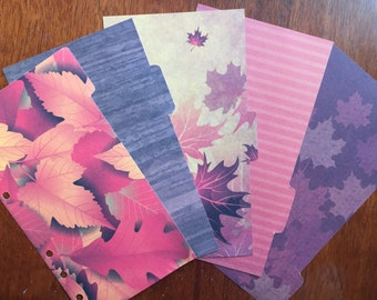 Autumn Leaves Personal Dividers