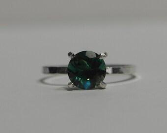 Spring sale! Green Andesine Labradorite Ring