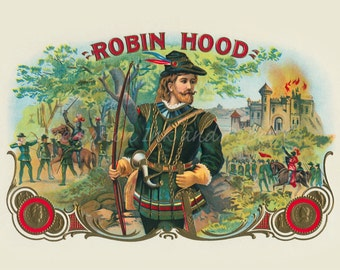 Heroic Outlaw Robin Hood and his Merry Men Sherwood Forest Antique Advertising Art HQ Limited Edition Giclee Home Wall Decor Print