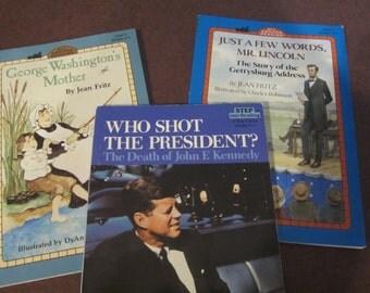 Step into Reading, reading level 2-3, George Washington, Abraham Lincoln, John F. Kennedy, famous presidents