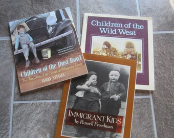children in history, immigrant children, dust bowl children, children of the wild west